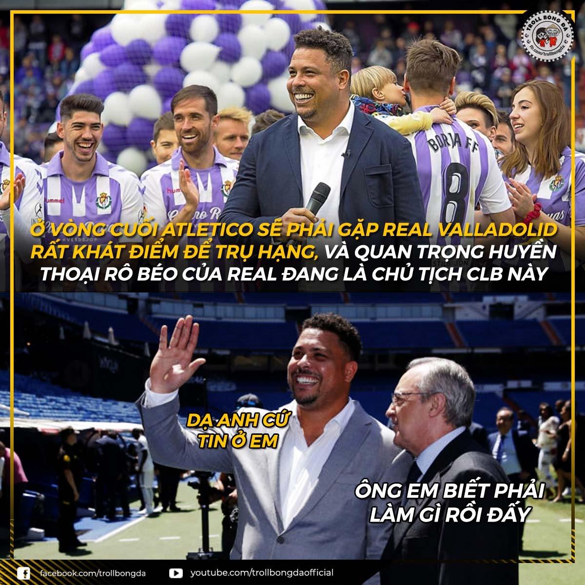 """Real Madrid có """"điệp viên"""" ở vòng cuối La Liga (Ảnh: Troll bóng đá)./."""