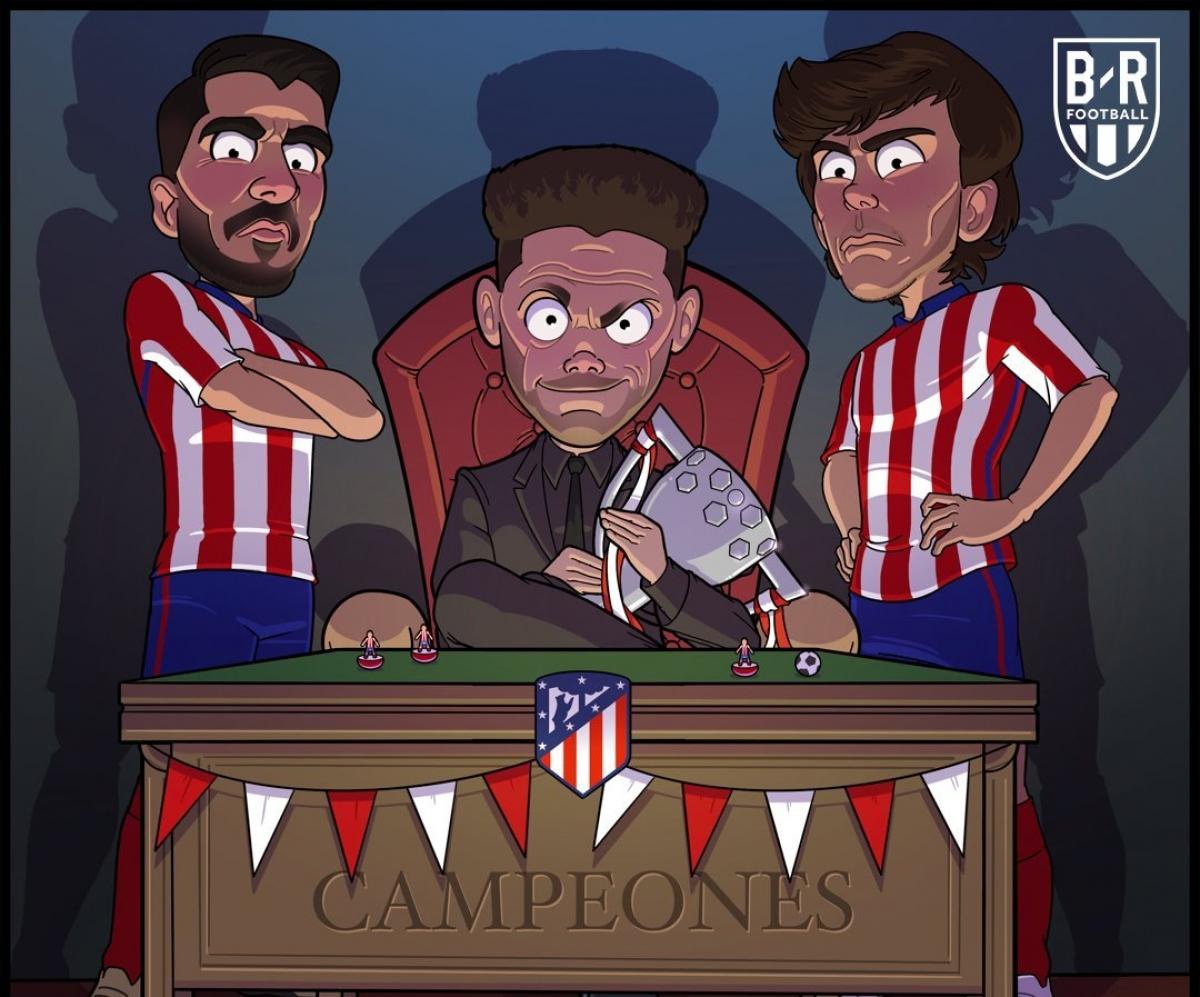 Atletico Madrid vô địch La Liga sau 7 năm chờ đợi. (Ảnh: Bleacher Report)./.