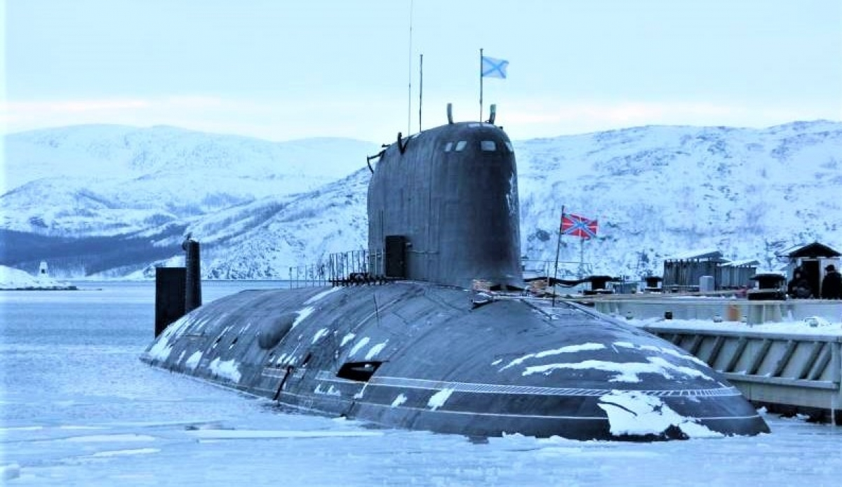 """Tàu ngầm hạt nhân """"Severodvinsk"""" thuộc dự án 885; Nguồn: topwar.ru"""