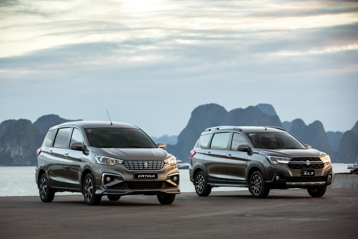 Doanh số cộng gộp của Suzuki XL7 và Ertiga đạt 1.275 xe bán ra trong tháng 3.