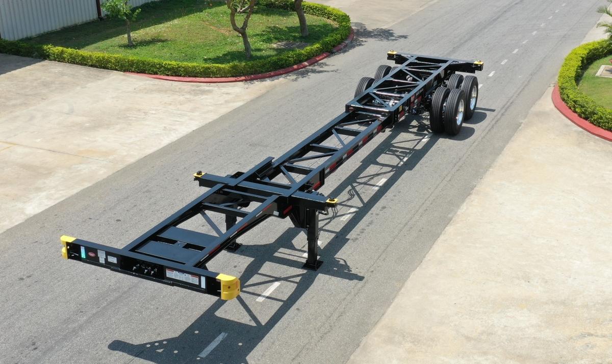 Sản phẩm SMRM xương 20'_40' CITY kết hợp, 2 trục, có chiều dài tổng thể tối đa 40 feet 10 inch.