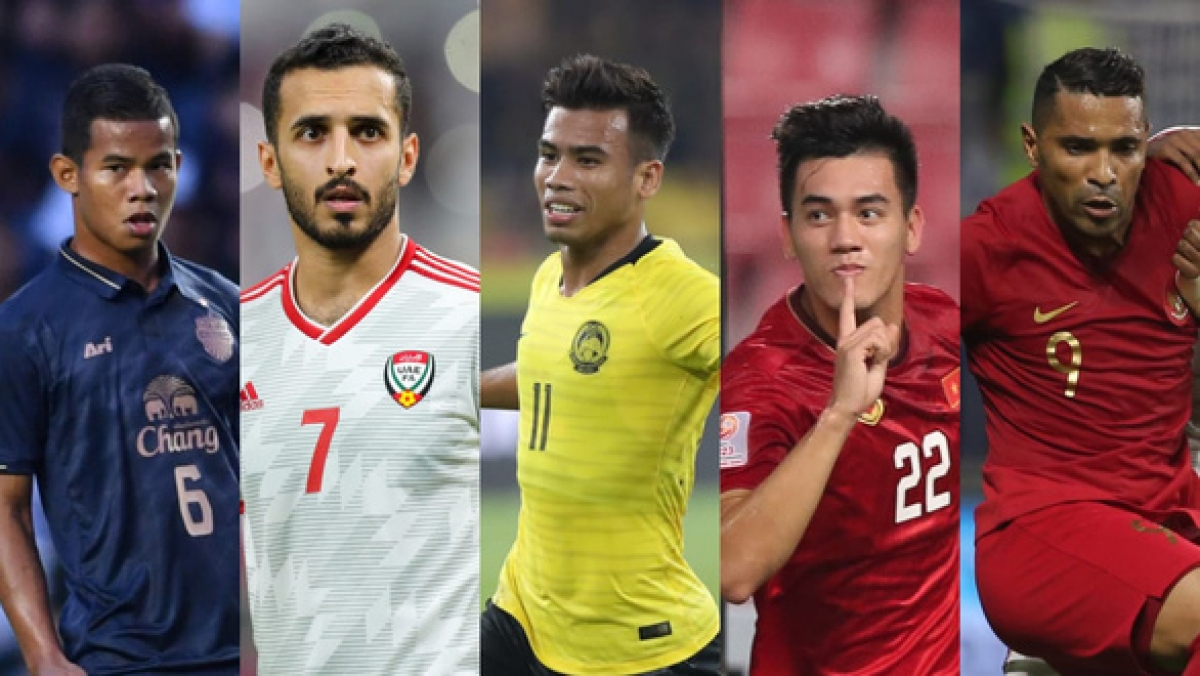 Tien Linh (fourth from left) is a key Vietnamese player ahead of World Cup 2022 qualifiers.