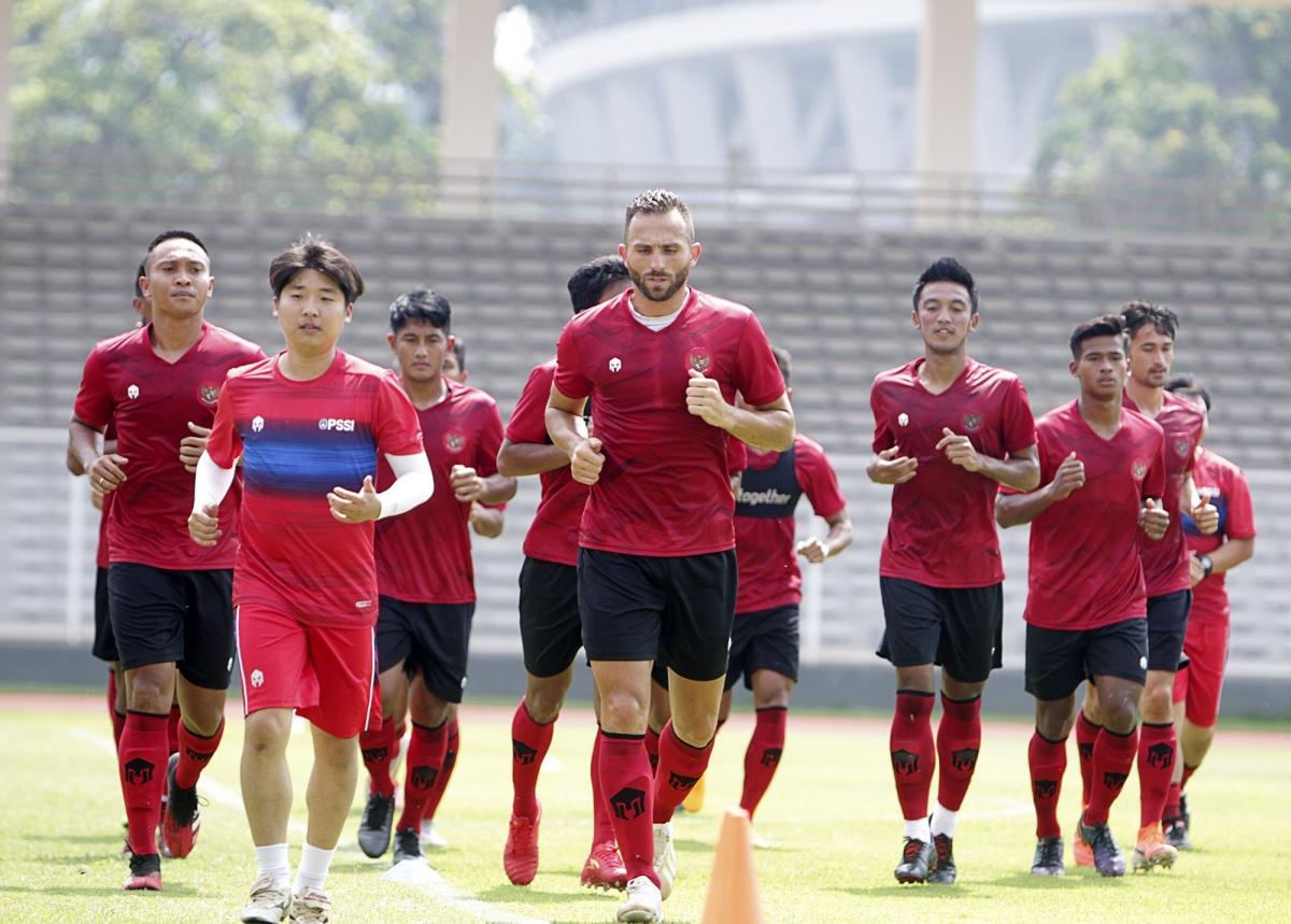 ĐT Indonesia đang trong quá trình luyện tập hướng tới những trận đấu cuối cùng ở vòng loại World Cup 2022. (Ảnh: Kompas).