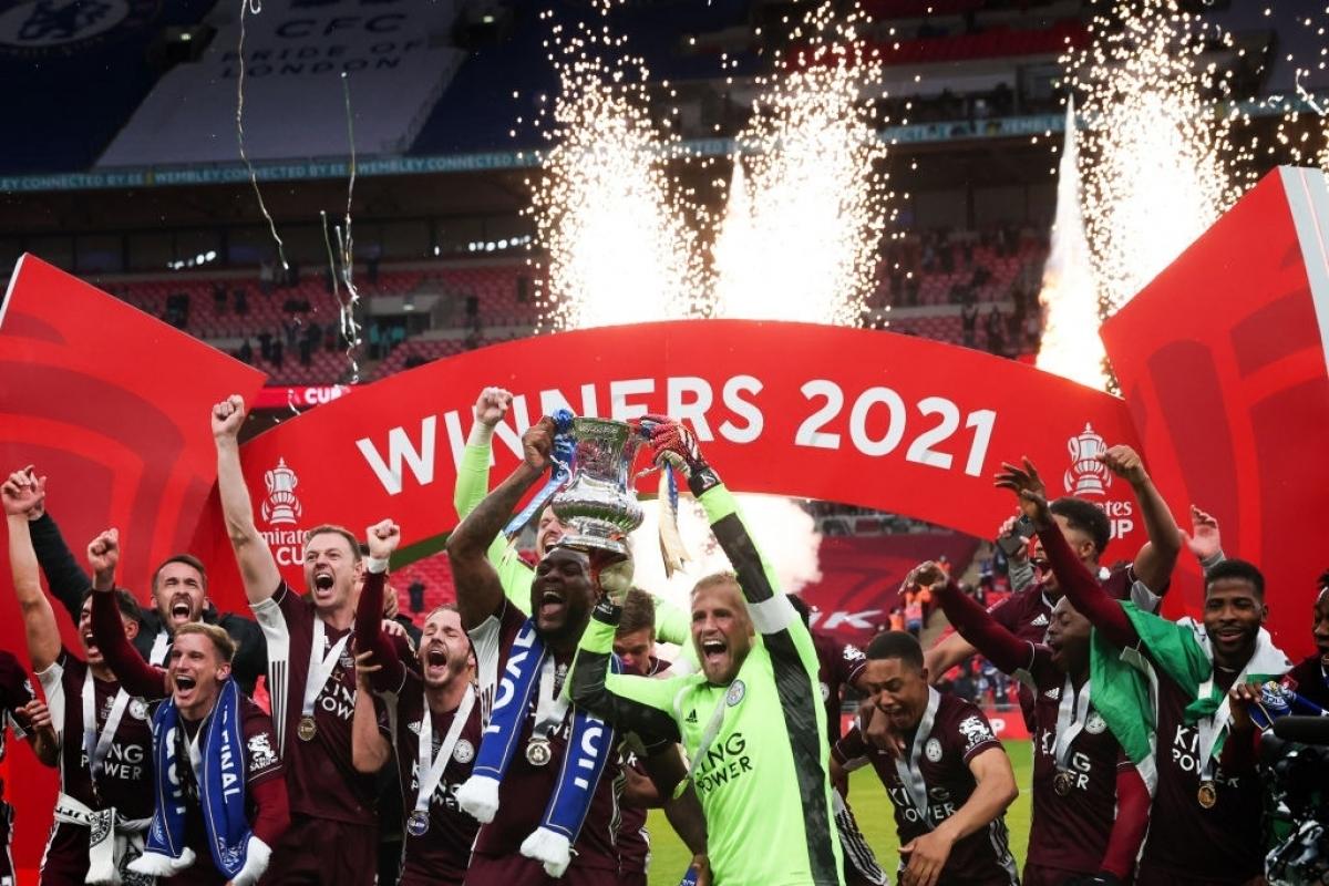 Leicester City đánh bại Chelsea để vô địch FA Cup (Ảnh: Getty).