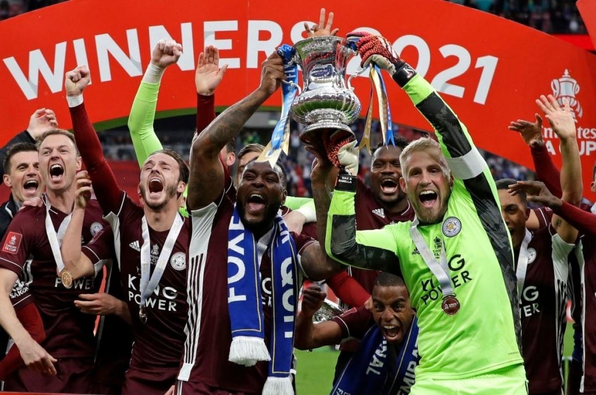 Leicester City vô địch FA Cup 2020/2021 (Ảnh: Getty).