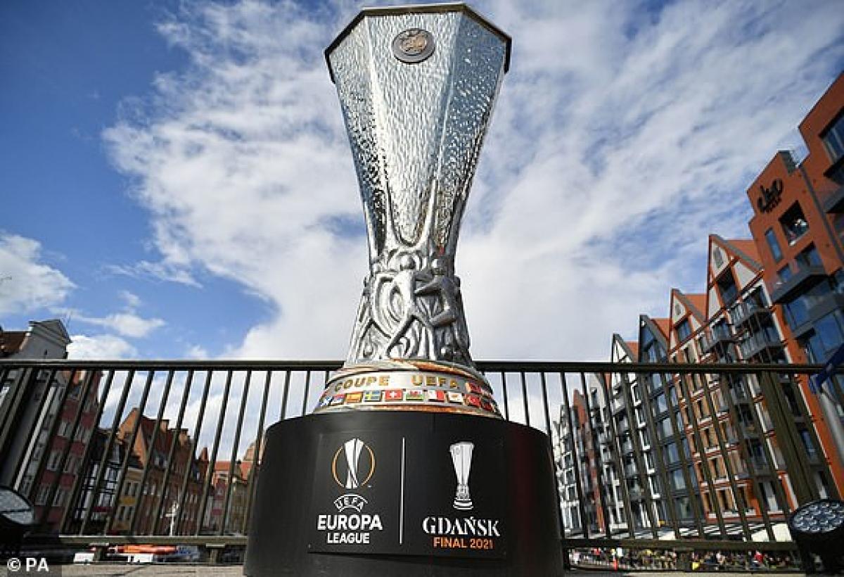 Sân Gdansk sẵn sàng cho trận chung kết Europa League giữa MU - Villarreal. (Ảnh: PA).
