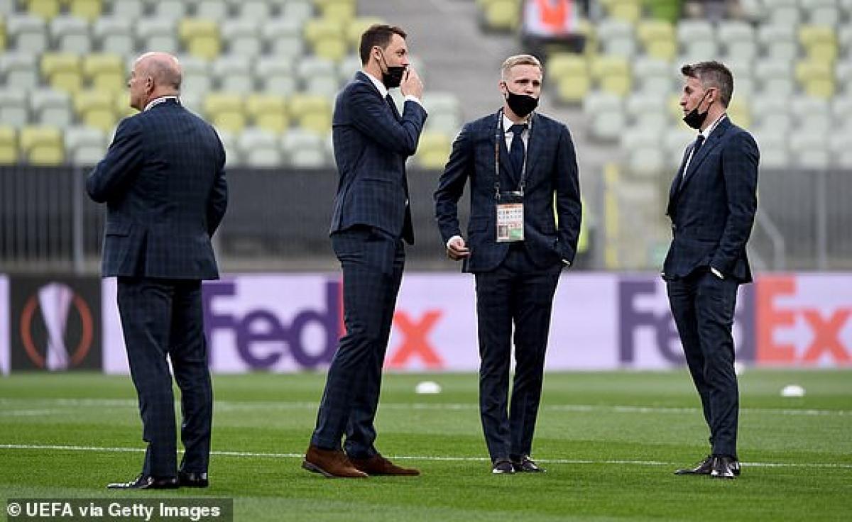 Các cầu thủ MU ở Gdansk. (Ảnh: Getty).