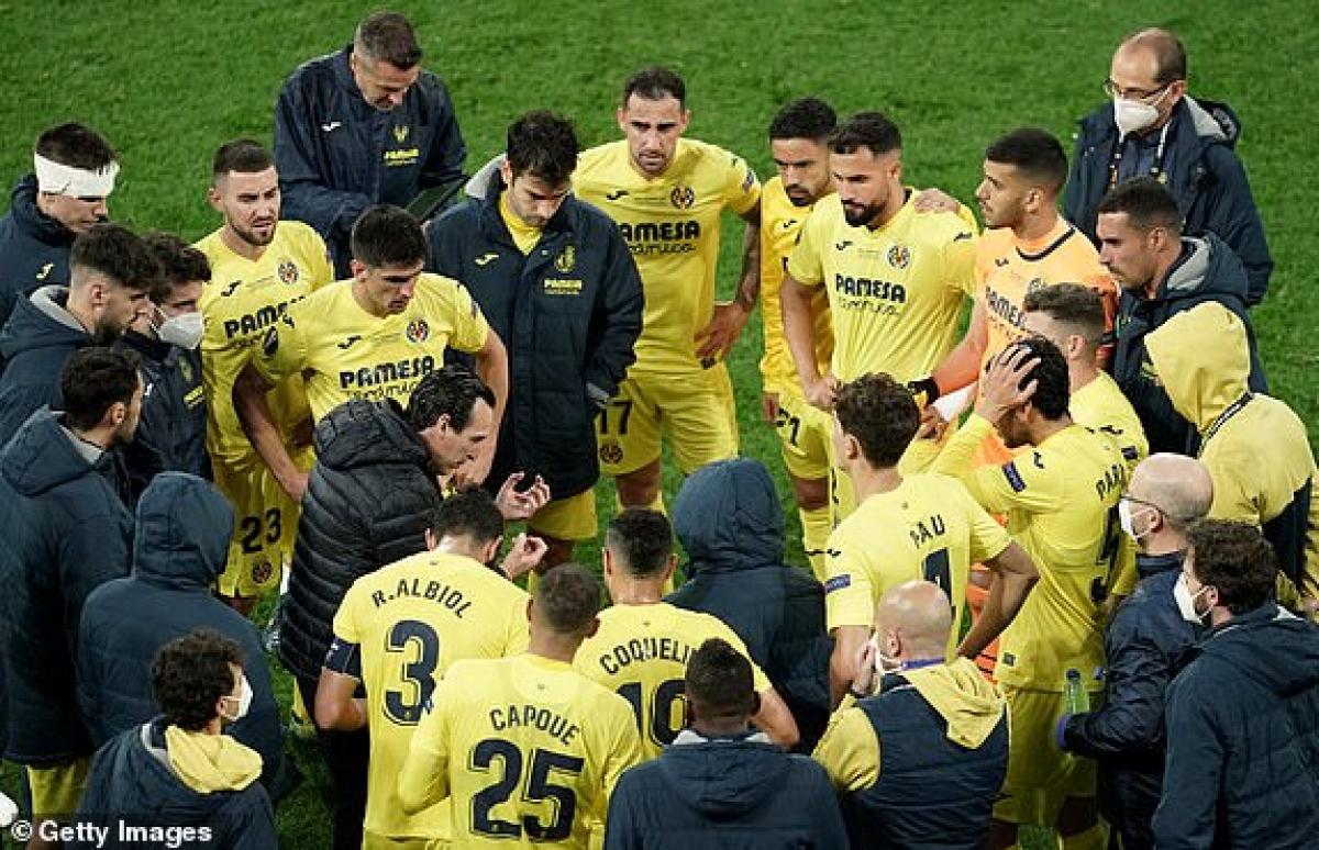 Sự quyết tâm của các cầu thủ Villarreal. (Ảnh: Getty).