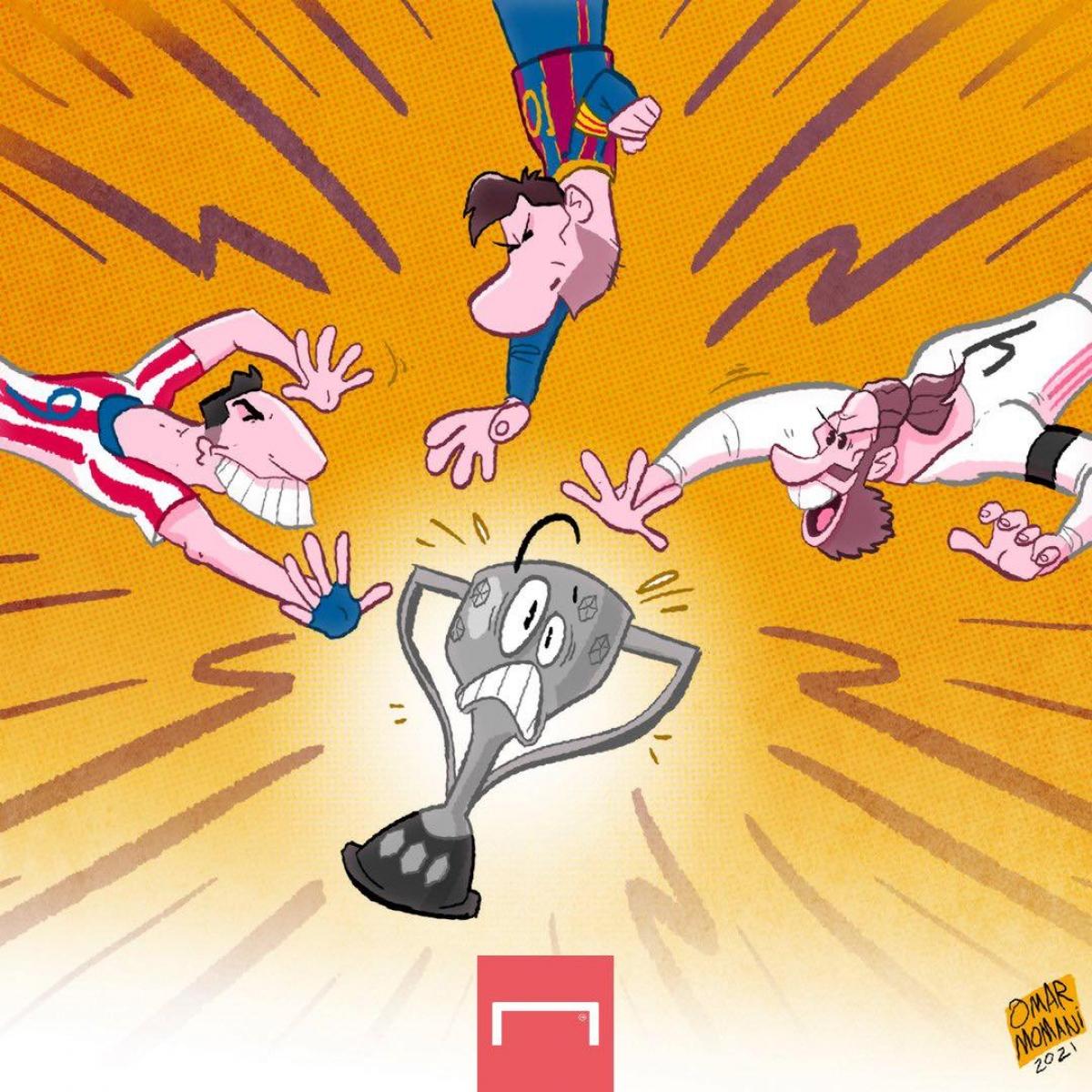 Cuộc đua tam mã tới chức vô địch La Liga. (Ảnh: Omar Momani)