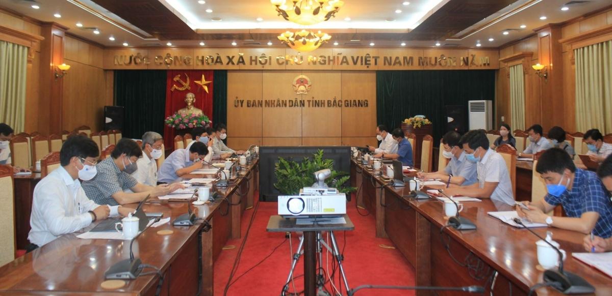 Đoàn công tác của Bộ Y tế làm việc với UBND tỉnh Bắc Giang.