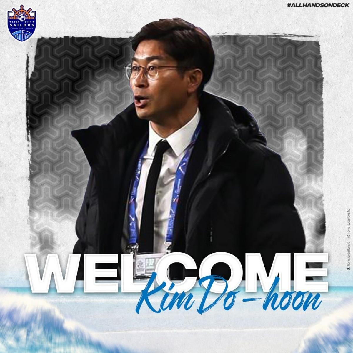 HLVKim Do-hoon sẽ dẫn dắtLion City Sailors ở mùa giải 2021.