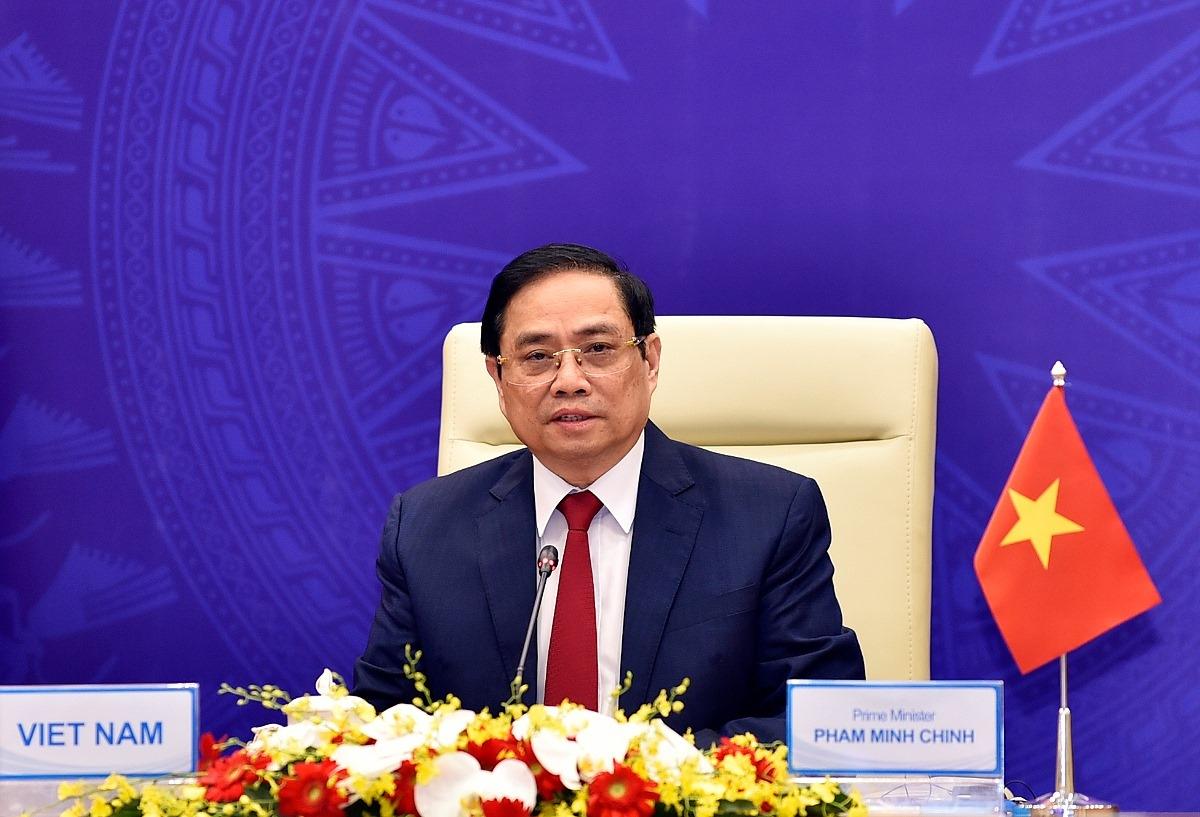 Thủ tướng Phạm Minh Chính tại Hội nghị. Ảnh: Nhật Bắc