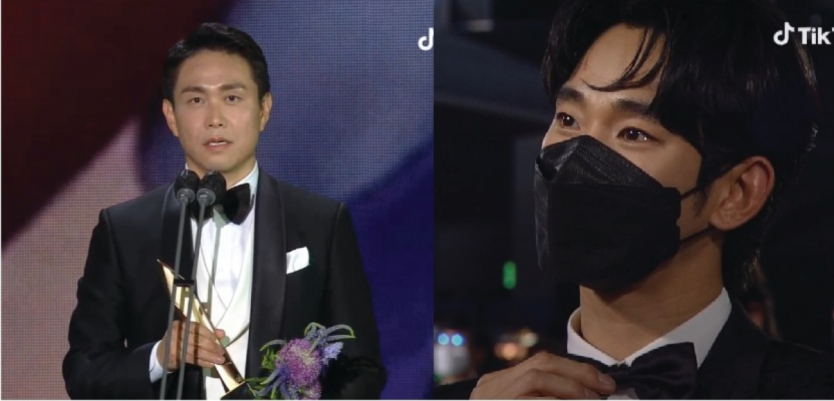 """Khoảnh khắc xúc động của """"em trai"""" Kim Soo Hyun khi Oh Jung Se nhận giải"""
