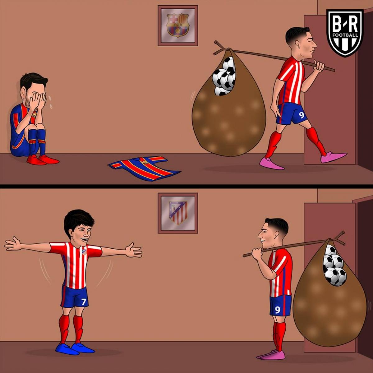 Tại sao Barca lại để Luis Suarez sang Atletico Madrid? (Ảnh: Bleacher Reports)