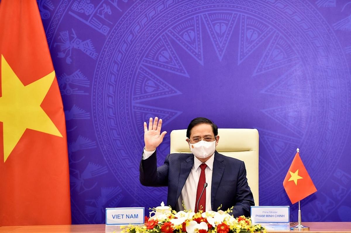 Thủ tướng nhấn mạnh: Một châu Ávươn lên vì hòa bình ổn định phát triển và thịnh vượng chính là khát vọng chung của các quốc gia trong khu vực.Ảnh: Nhật Bắc