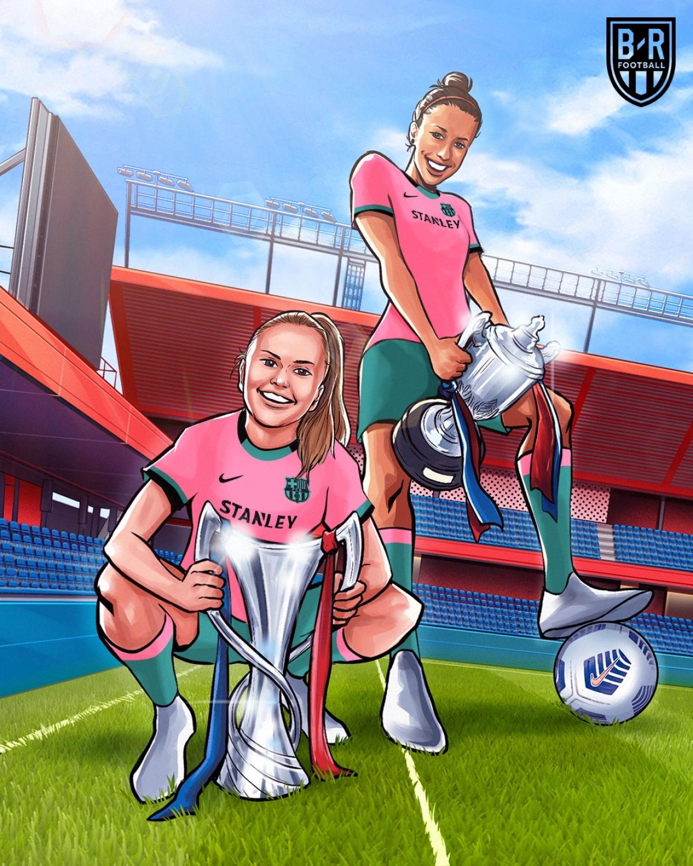 Đội nữ Barca vô địch Champions League. (Ảnh: Bleacher Reports)
