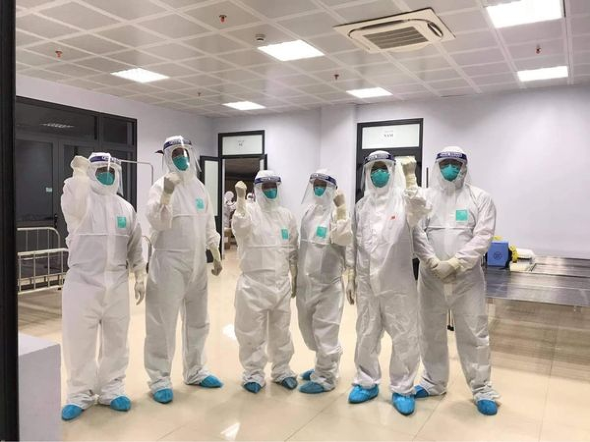 Đội ngũ thầy thuốc tại Bệnh viện Dã chiến số 2 Bắc Giang.