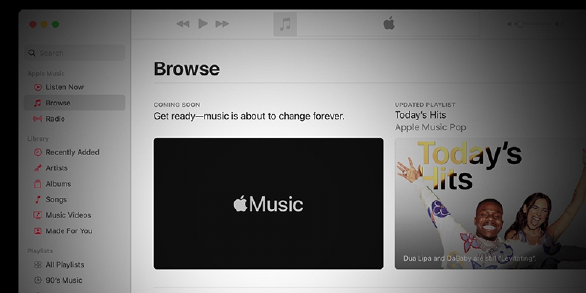 Thông báo được Apple đưa ra trong ứng dụng Apple Music.