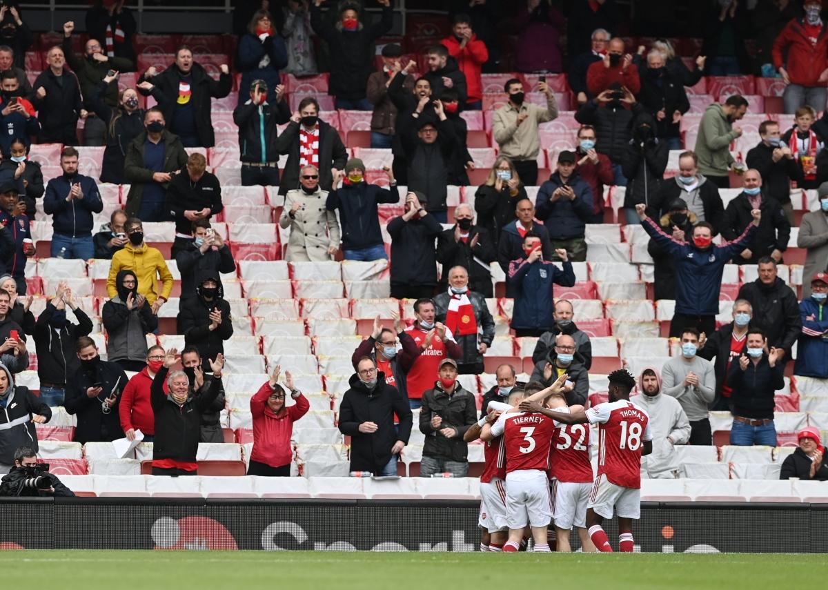 Arsenal khai thông thế bế tắc trước Brighton. (Ảnh: Reuters)