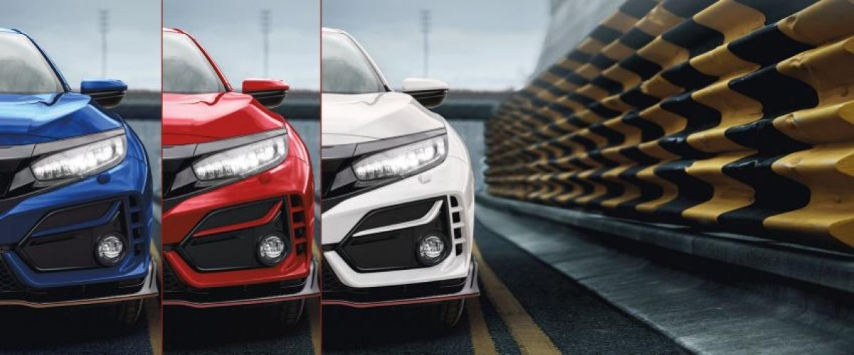 Honda Civic Type R có 3 màu ngoại thất để khách hàng lựa chọn.