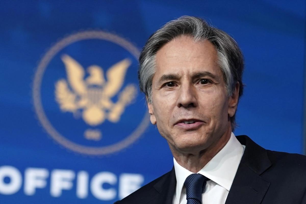Ngoại trưởng Mỹ Antony Blinken- (Ảnh: AP)