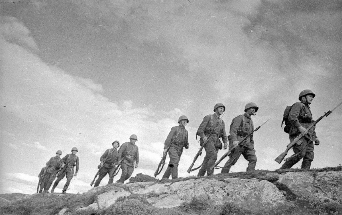 Lính bộ binh trên bán đảo Kola. Ảnh chụp năm 1941.