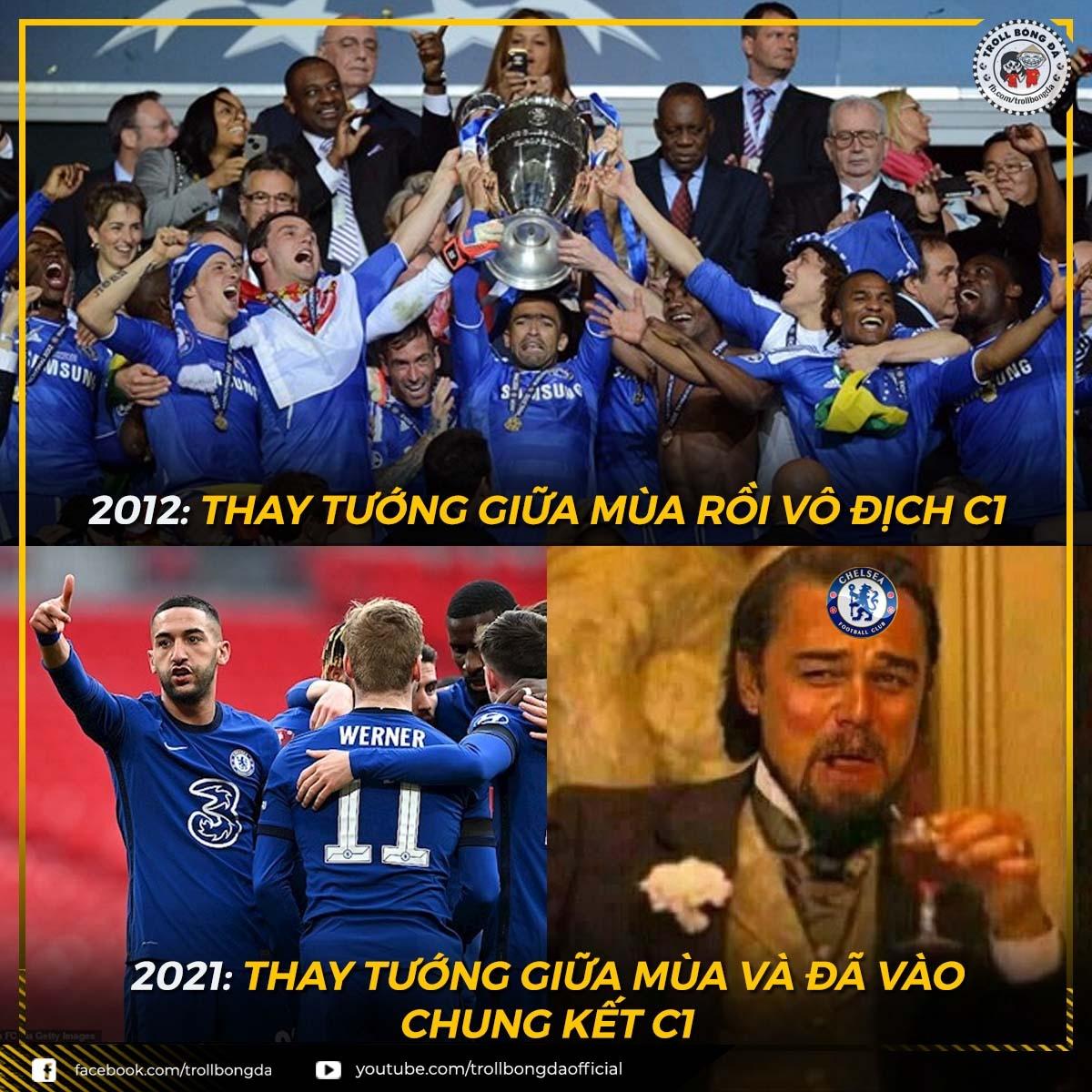 Liệu lịch sử có lặp lại với Chelsea? (Ảnh: Troll bóng đá).