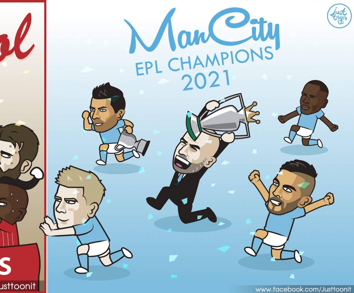 Man City giành chức vô địch Ngoại hạng Anh lần thứ 5.