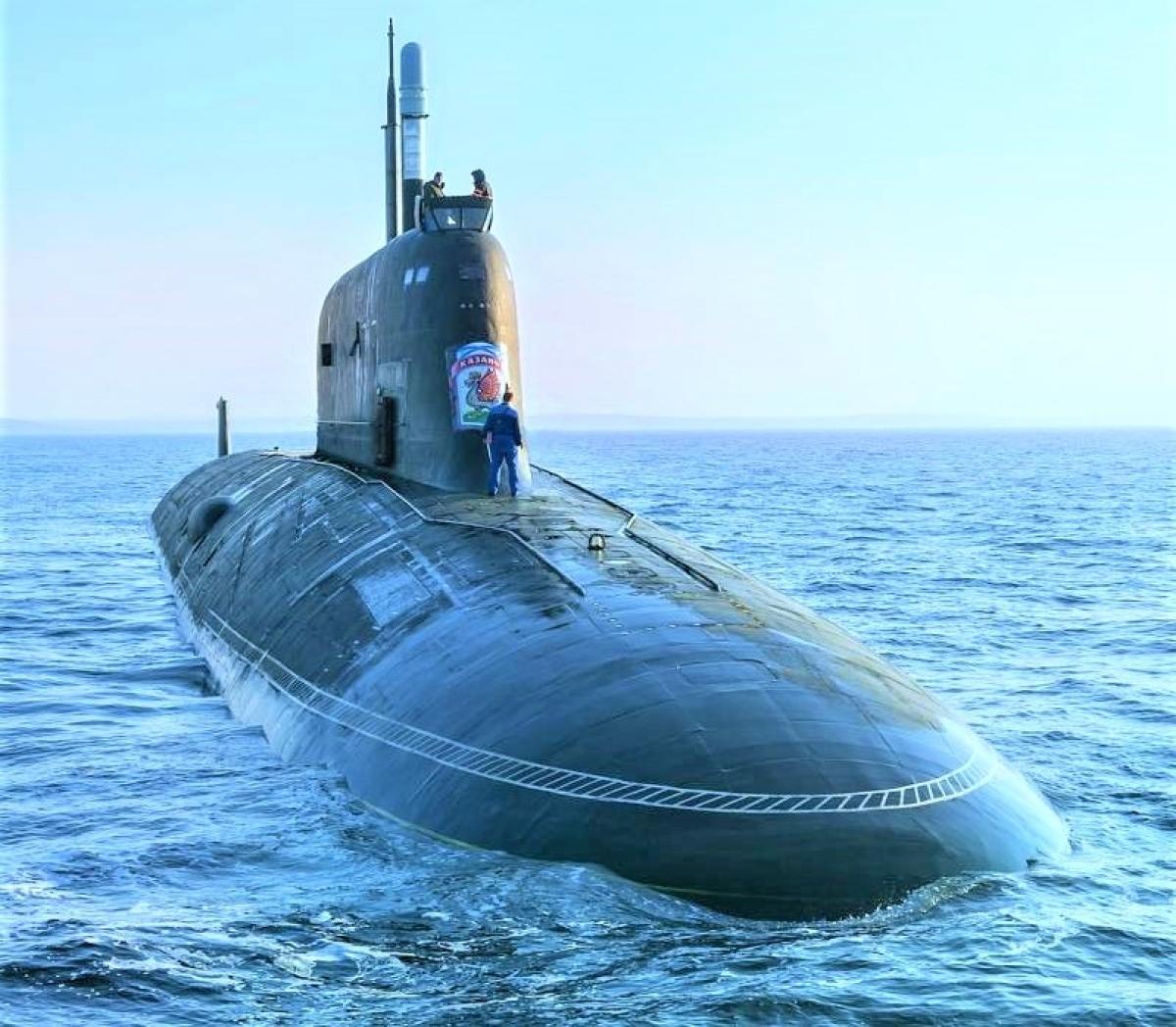Tàu ngầm Kazan thử nghiệm trên biển; Nguồn: topwar.ru