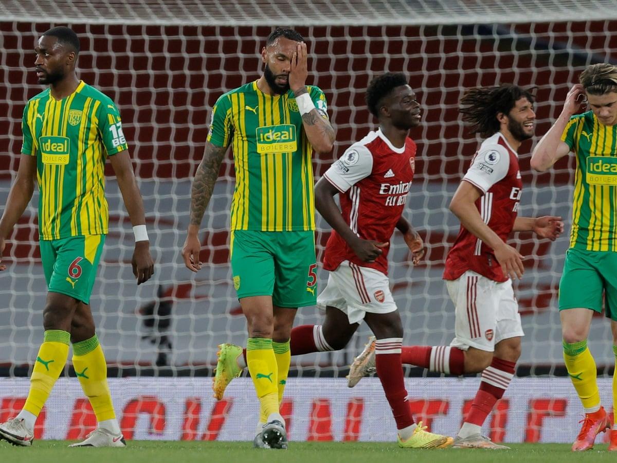 West Brom chính thức xuống hạng sau trận thua Arsenal. (Ảnh: Reuters).