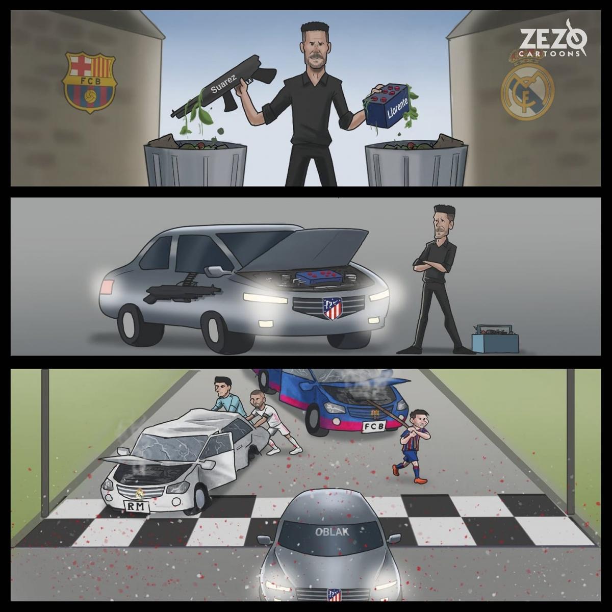 Atletico Madrid vô địch La Liga 2020/2021.