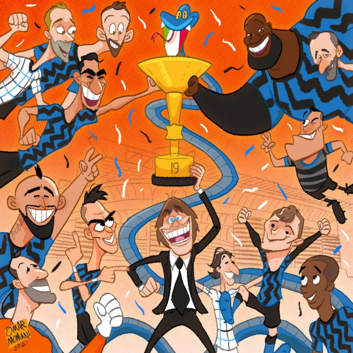 Inter Milan vô địch Serie A 2020/2021 trước 4 vòng đấu.
