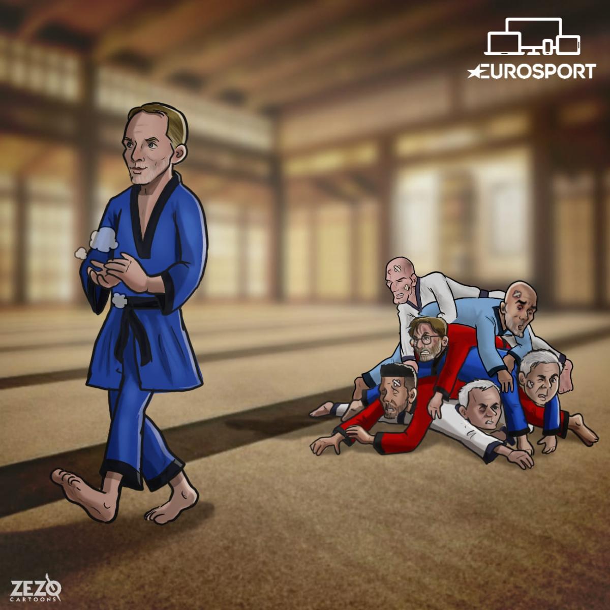 Zidane là bại tướng tiếp theo của HLV Tuchel.