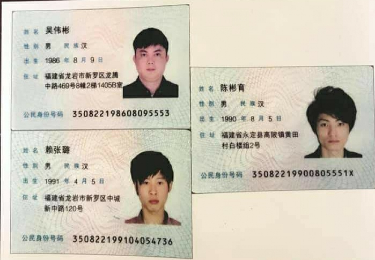 3 đối tượng người Trung Quốc bỏ trốn và bị lực lượng chức năng bắt ngay sau đó.