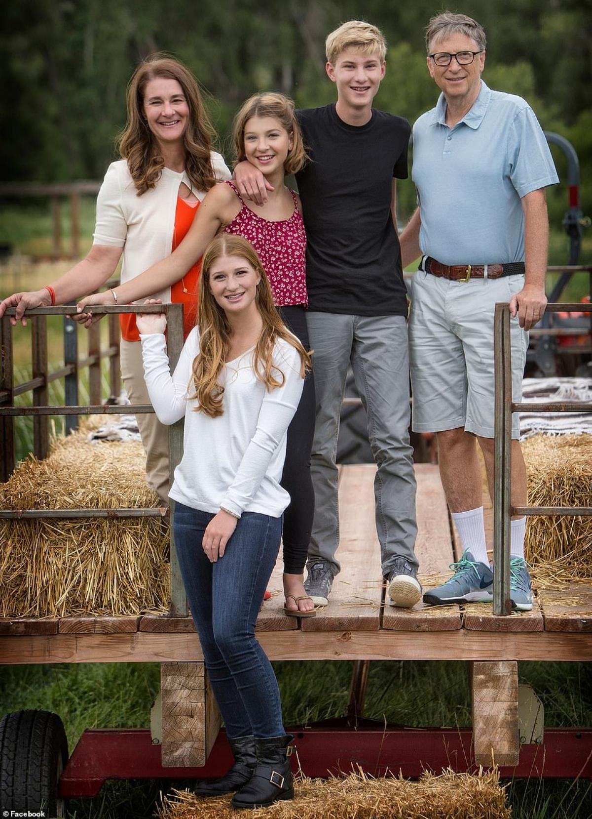 Gia đình tỷ phú Bill Gates./.
