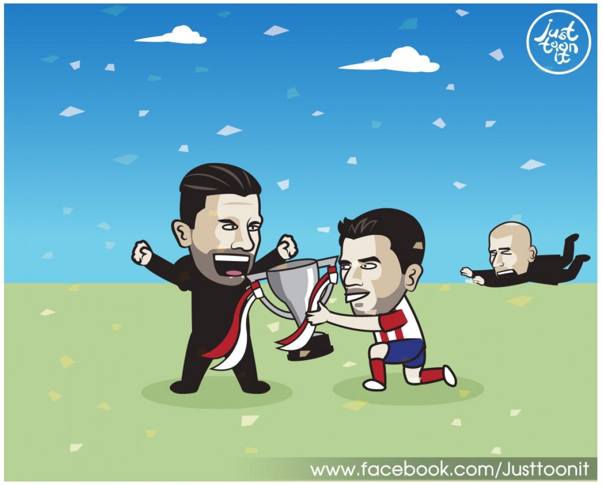 Suarez là chìa khóa mang về chiến thắng cho Atletico Madrid.