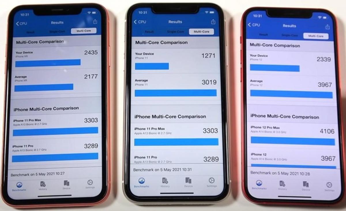iOS 14.5.1 khiến cho hiệu năng của iPhone 12 chỉ tương đương với iPhone XR.