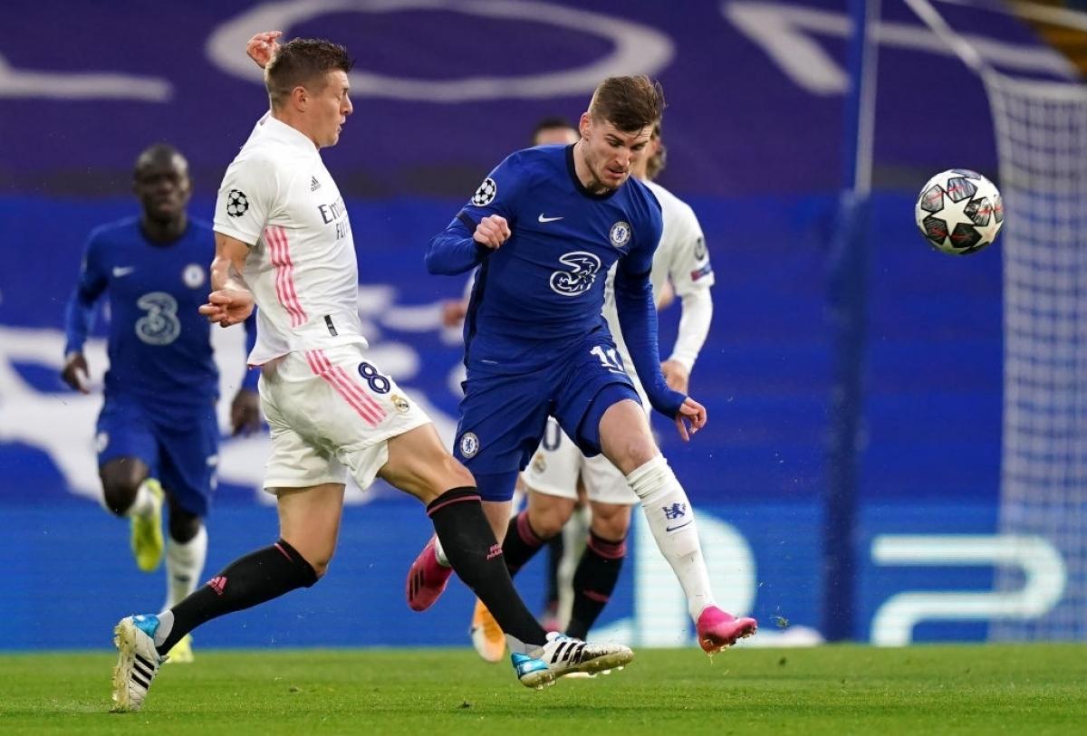 Chelsea và Real Madrid thi đấu chặt chẽ (Ảnh: Getty).