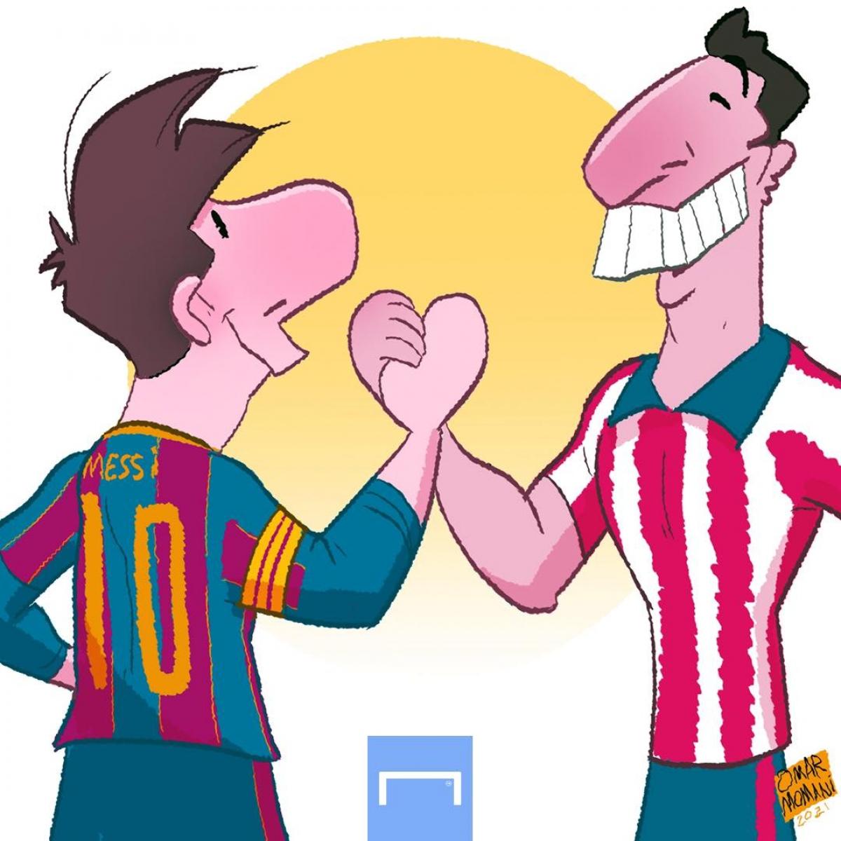 """Messi và Suarez """"bất phân thắng bại"""" trong ngày tái ngộ. (Ảnh: Omar Momani)."""
