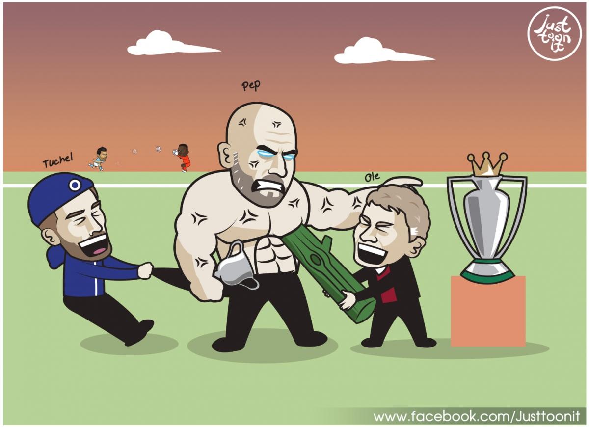MU và Chelsea níu chân Man City.