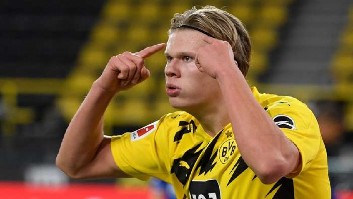 6. Erling Haaland | Dortmund | 25 bàn thắng (50 điểm)