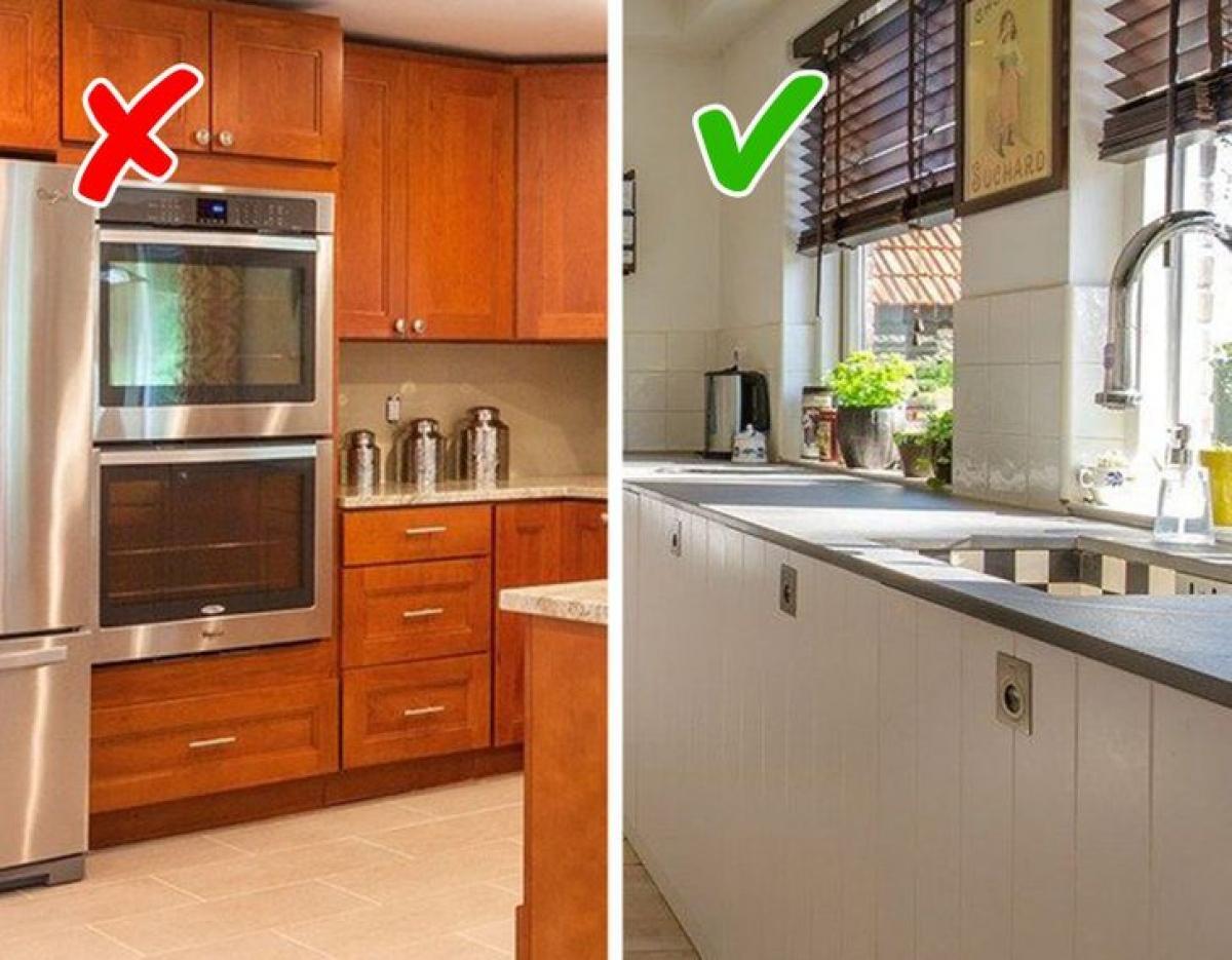 Nếu muốn gian bếp rộng rãi, thoáng đạt hơn, hãy chọn tủ bếp có các ngăn kín và mở được bố trí hợp lý.