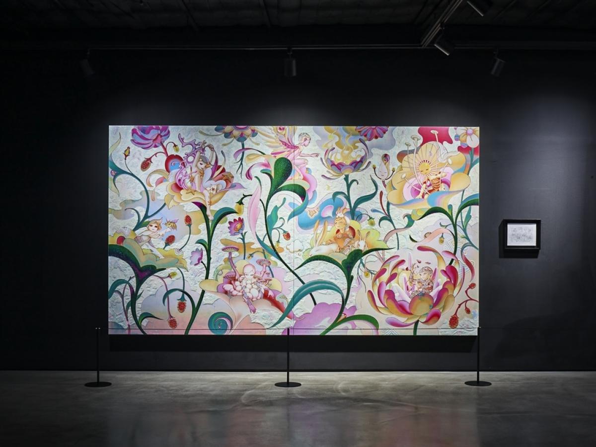 Một tác phẩm của nghệ sĩ thị giác James Jean, lấy cảm hứng từ 7 thành viên nhóm BTS. Nguồn: Hybe Insight