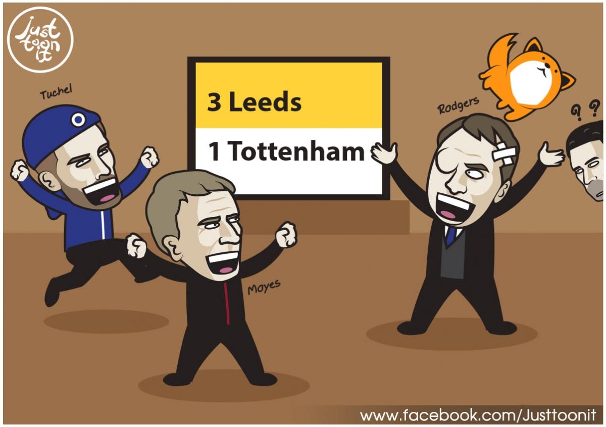 Tottenham khó lòng dự Cúp châu Âu mùa tới. (Ảnh: Just Toonit)./.