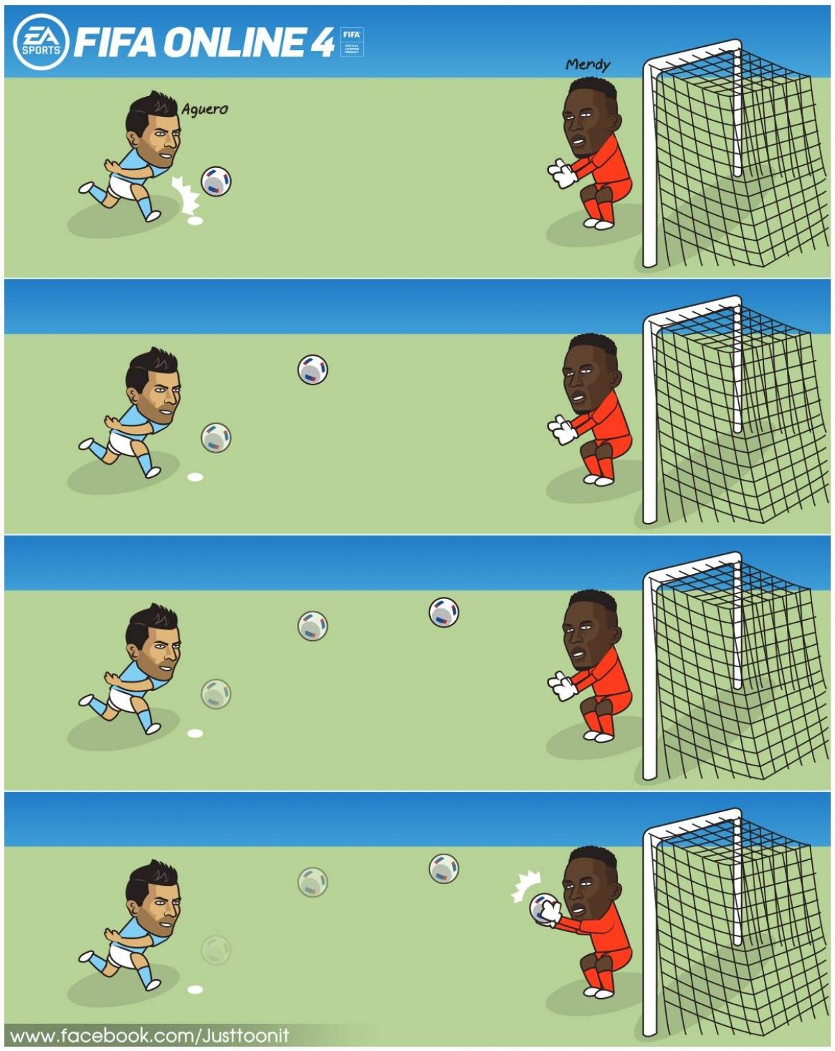 Aguero trở thành tội đồ ở trận thua Chelsea.