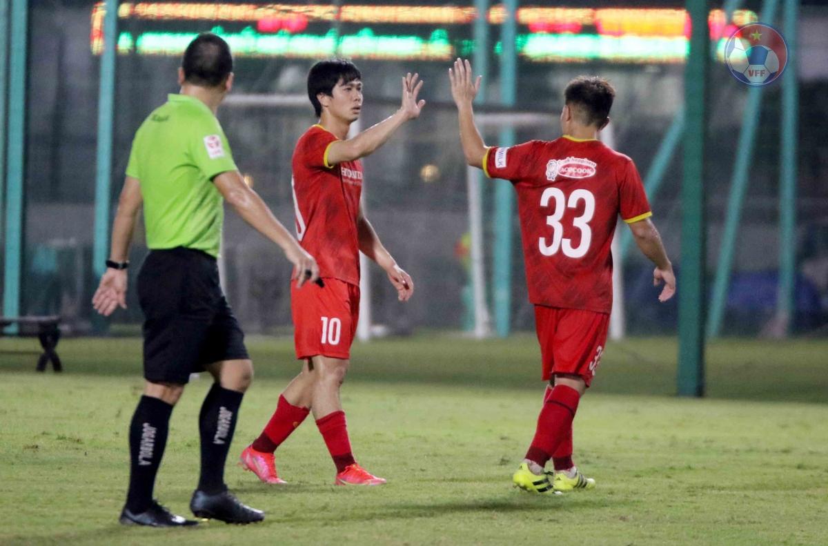 VFF không tiết lộ kết quả chung cuộc cũng như những người ghi bàn cho hai đội.