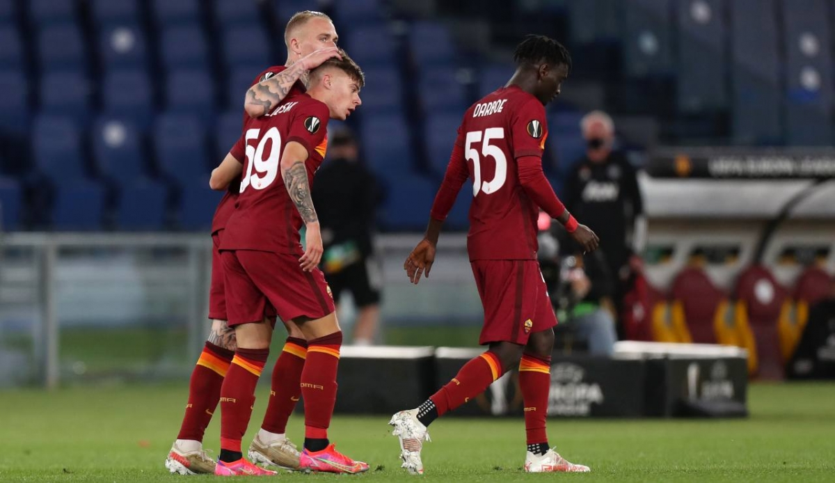 AS Roma rời cuộc chơi trong thế ngẩng cao đầu. (Ảnh: Getty)