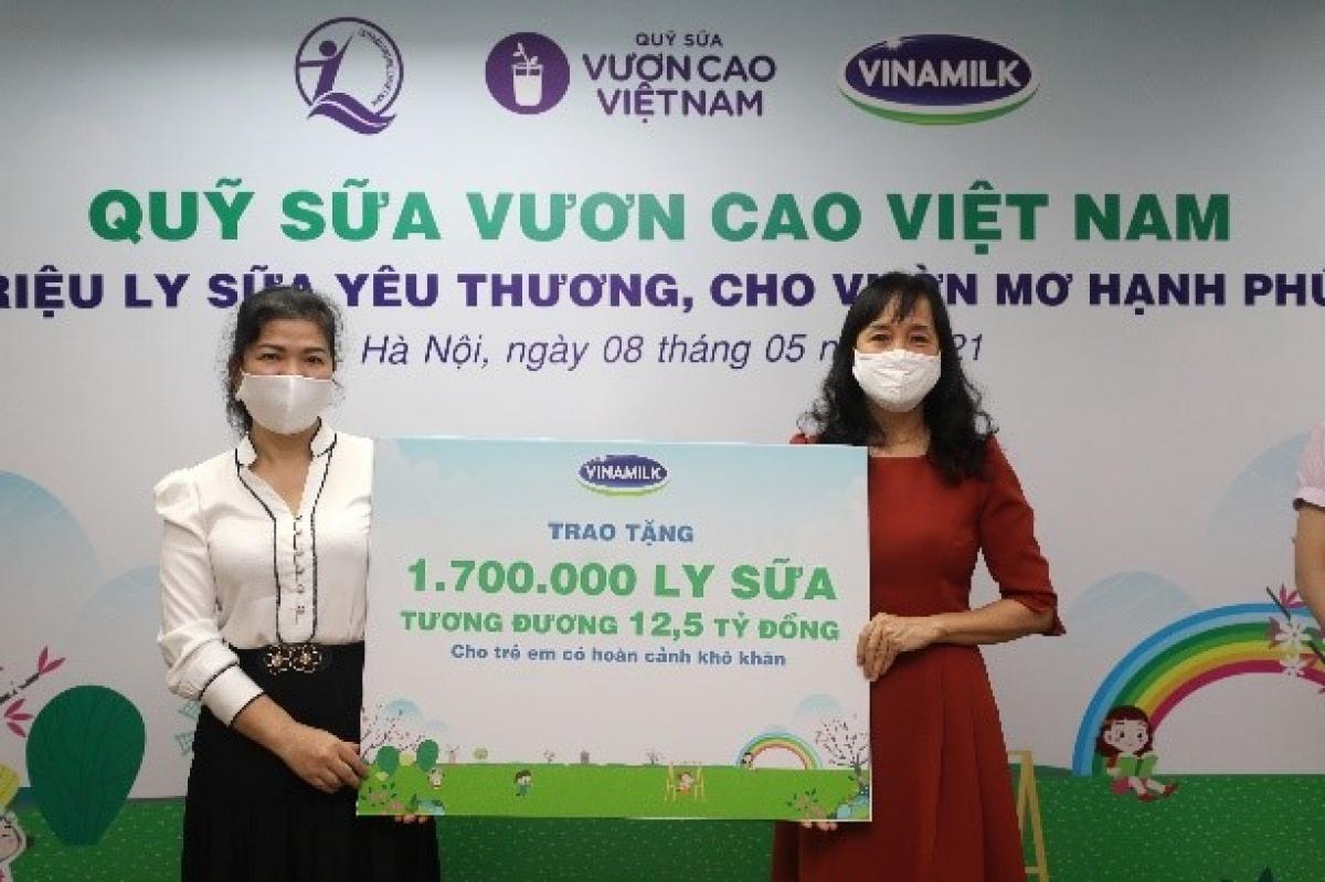 Năm 2021, 1,7 triệu ly sữa từ Quỹ sữa Vươn cao Việt Nam và Vinamilk sẽ đến với 19.000 trẻ em khó khăn.