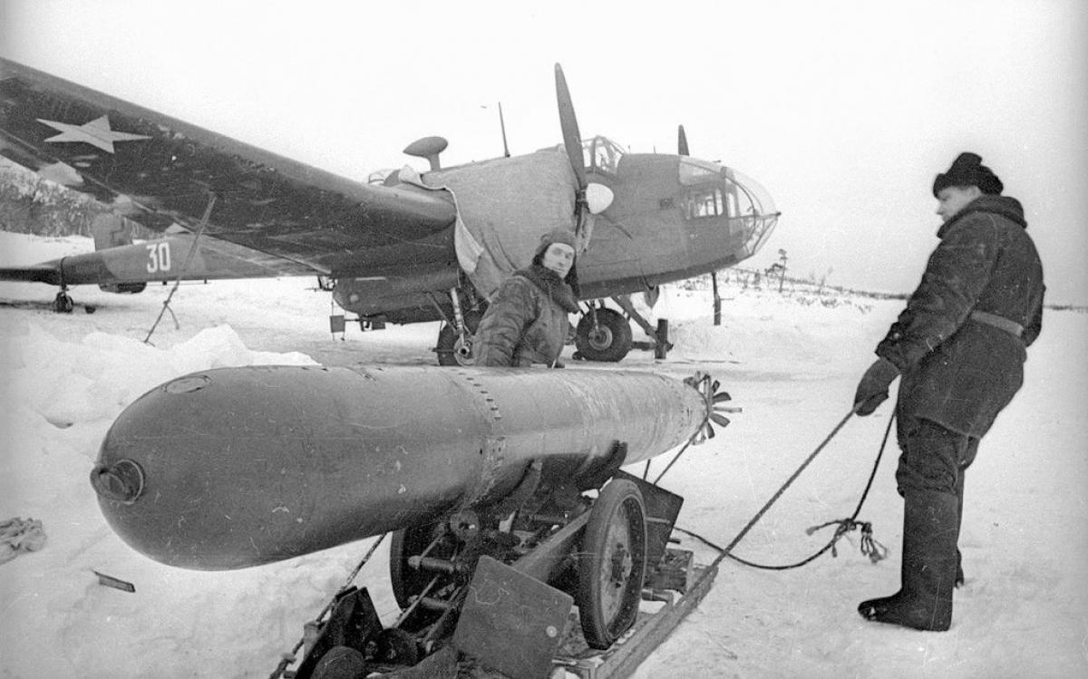 Ngư lôi không quân ở Murmansk.