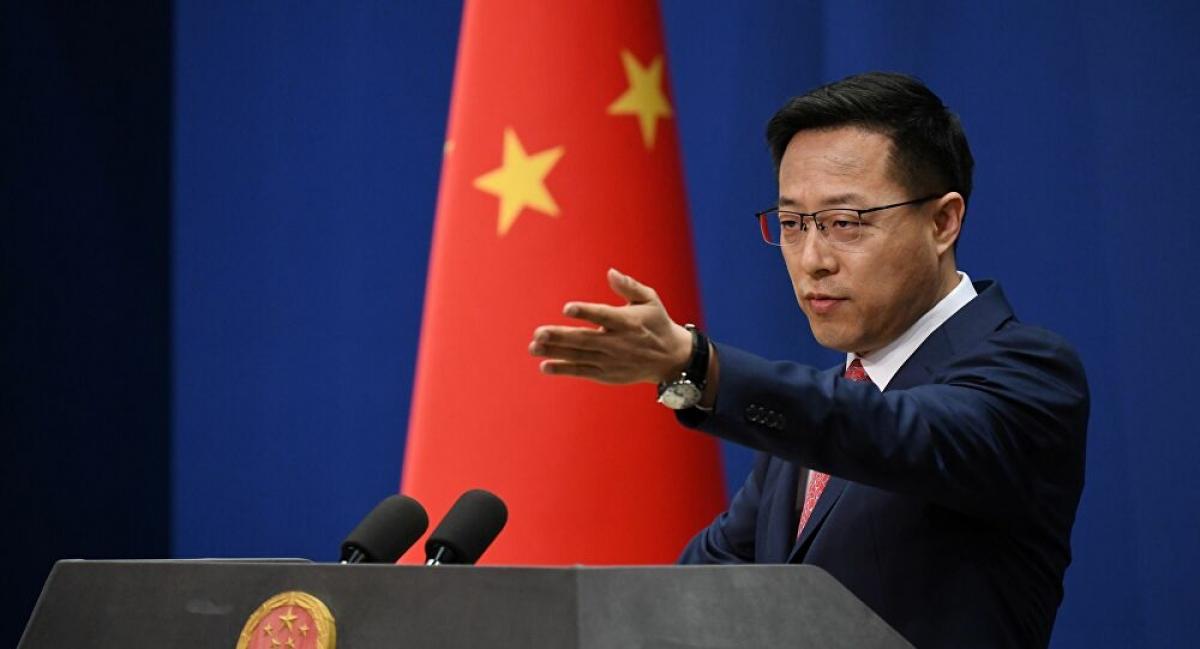 Người phát ngôn Bộ Ngoại giao Trung Quốc Triệu Lập Kiên. Ảnh: Sputnik.